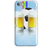 Beer Glass and Soccer Ball 3 iPhone Case/Skin