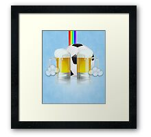 Beer Glass and Soccer Ball 3 Framed Print