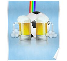 Beer Glass and Soccer Ball 3 Poster