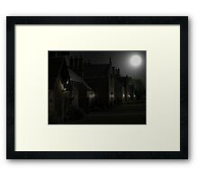 And Meanwhile Down at The Village Framed Print