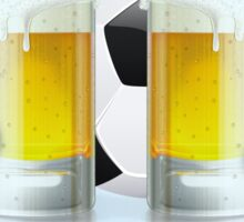 Beer Glass and Soccer Ball 3 Sticker