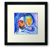 Joseph, Mary and Jesus Framed Print