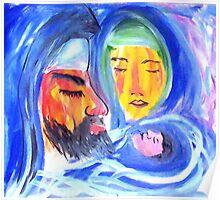 Joseph, Mary and Jesus Poster