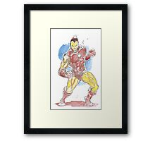 Tiny Ironman -- Tiny Avenger Series Framed Print