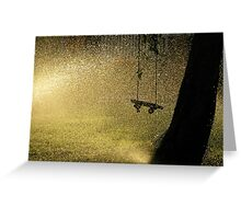 summer evening dreaming Greeting Card