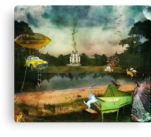 To Wish Impossible Things (art, poetry & music) Canvas Print