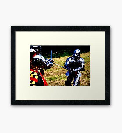 A fair match Framed Print