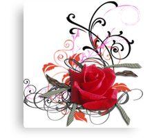 Vignette rose Canvas Print
