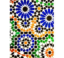 Old Moroccan Tiles  Photographic Print