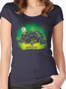 Thriller Night Women's Fitted Scoop T-Shirt