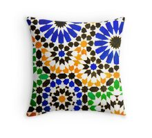 Old Moroccan Tiles  Throw Pillow