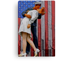 The VJ day Kiss Canvas Print
