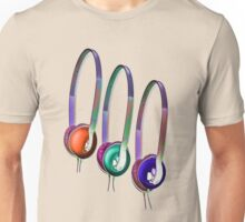 Triple Headphones Unisex T-Shirt