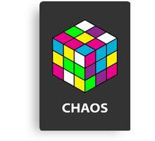 Rubik's Cube Chaos Canvas Print