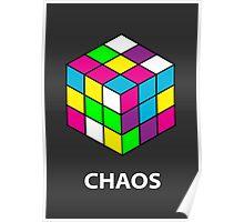 Rubik's Cube Chaos Poster