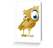 Funny owl Greeting Card