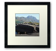 Clay People approaching Slioch Framed Print