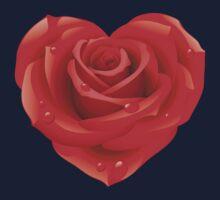 Heart - rose One Piece - Long Sleeve