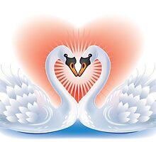 Swans heart by Vitalia
