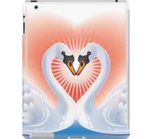 Swans heart iPad Case/Skin