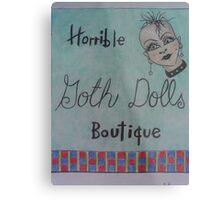 horrible goth dolls boutique Metal Print