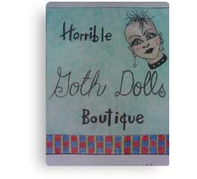 horrible goth dolls boutique Canvas Print