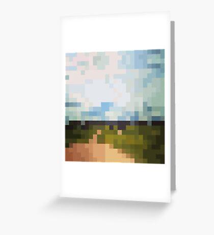 Digital Landscape #6 Greeting Card
