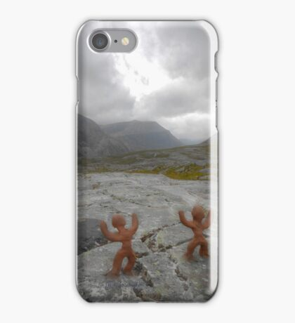 Clay people face Beinn Eighe iPhone Case/Skin
