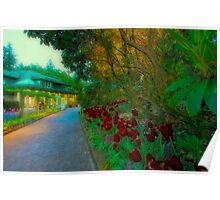 Butchart Gardens at Night 3 Poster