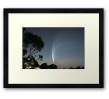Comet McNaught from Mt Macedon Framed Print