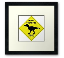 Heavy Theropod Xing Sign Framed Print