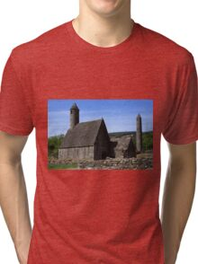 St Kevins Church And Round Tower Tri-blend T-Shirt