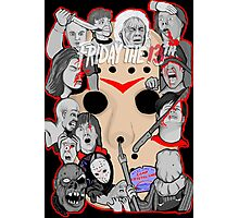 Friday the 13th collage Photographic Print