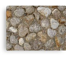 Cobblestone construction Canvas Print
