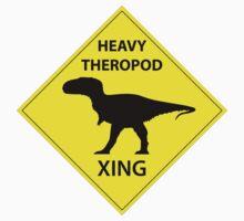 Heavy Theropod Xing Sign by GaffaMondo