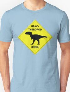Heavy Theropod Xing Sign T-Shirt