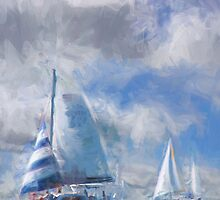 Sailing In the Gulf by Dennis Granzow