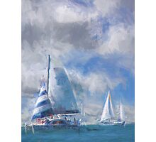 Sailing In the Gulf Photographic Print
