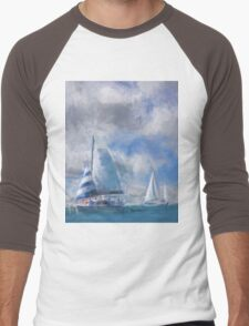 Sailing In the Gulf Men's Baseball ¾ T-Shirt