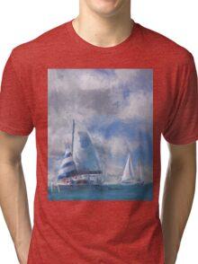 Sailing In the Gulf Tri-blend T-Shirt