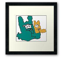 Funky Bunnies  Framed Print