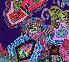 Purple Elephant by Rebekah  McLeod
