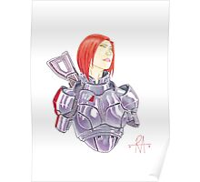 Mass Effect Commander Shepard FemShep Fan Art Bust Poster