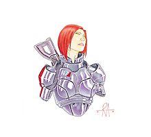Mass Effect Commander Shepard FemShep Fan Art Bust Photographic Print