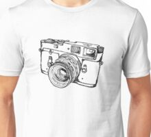 Rangefinder Style Camera Drawing Unisex T-Shirt