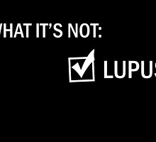 It's Not Lupus - House M.D (White) by Izlucey
