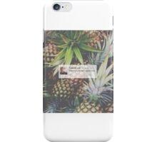 Caspar Lee Pineapple Quote iPhone Case/Skin