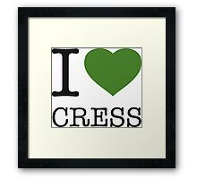 I ♥ CRESS Framed Print