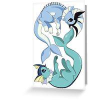 Vaporeon Generations Greeting Card