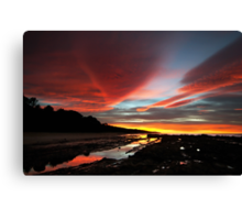 Oh my!  Look at that sky! Canvas Print